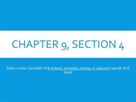 Chapter 9 Section 4 ppt chapter 9 section 4 powerpoint presentation id