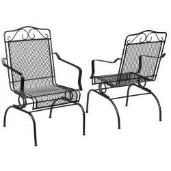 Metal Rocking Patio Chairs Hton Bay Nantucket Rocking Metal Outdoor Dining Chair 2 Pack 6991700 0205157 The Home Depot