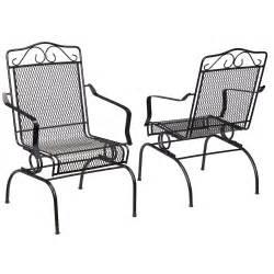 hton bay nantucket rocking metal outdoor dining chair