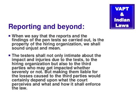 vapt report template vapt ethical hacking and laws in india by prashant mali