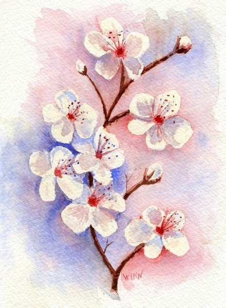 watercolor tattoo ek i cherry blossoms watercolor print cherry blossoms