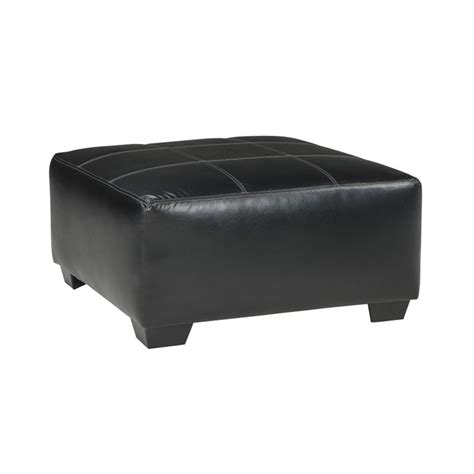 Oversized Square Ottoman Kumasi Oversized Square Faux Leather Ottoman In