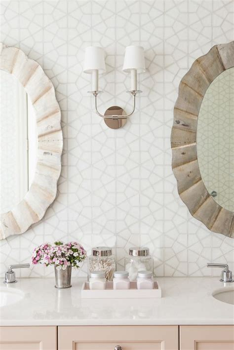 the twins girly bathroom bachelorette pad pinterest interiors mirror and tile on pinterest