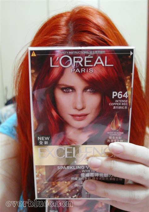 loreal hair color chart ginger everbluec loreal paris new excellence fashion hair dye in