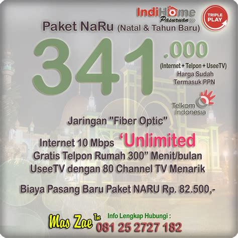 Wifi Unlimited Indihome speed 10mbps unlimited