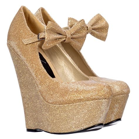 Wedges Fladeo Gliter gold glitter wedge shoes www imgkid the image kid has it