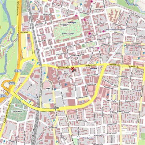 städtekarte deutschland erlangen karte