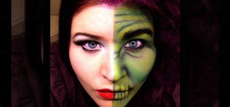 how to apply two face dr jekyll inspired halloween makeup