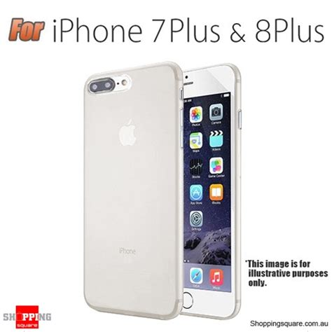 slim tpu soft gel transparent cover for iphone 7 plus white colour shopping