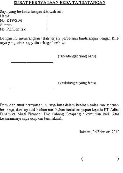 akhmad subairiyanto surat pernyataan beda tandatangan