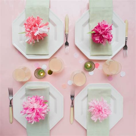 How To Make Carnations Out Of Tissue Paper - tissue paper carnation place cards favors diy