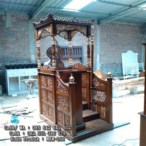 Mimbar Jati Untuk Masjid mimbar masjid minimalis jepara kayu jati mebel kayu