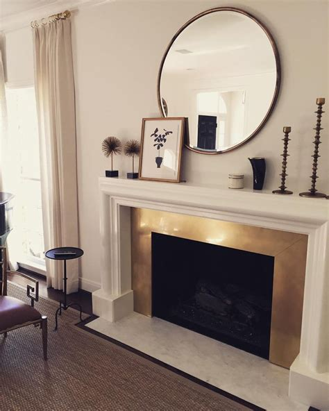 25 best ideas about fireplace mirror on