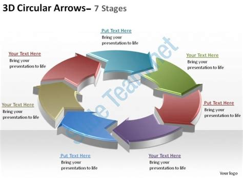 3d Circular Arrows Process Smartart 7 Stages Ppt Slides Diagrams Templates Powerpoint Info Powerpoint Smartart Cycle Templates