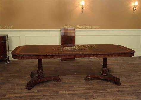 10 place dining table narrow regency style inlaid mahogany dining table seats