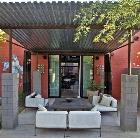 pergola  metal roof corrugated metal shade structure block amp corrugated pergola  metal
