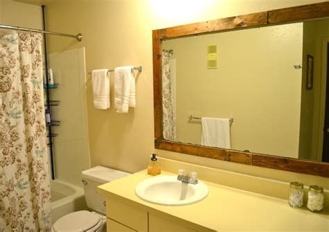 How Do You Frame A Bathroom Mirror How To Frame A Bathroom Mirror With Pallets Pickled Barrel