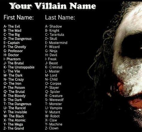 gangster film name generator your villan name character name generators know your meme