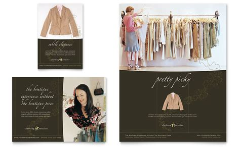 fashion store template s clothing store flyer ad template word publisher