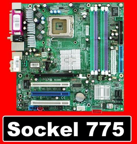 board sockel 775 msi sockel 775 mainboard ms 7091 ver10 f 252 r intel