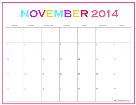 printable calendar november 2015 to march 2016 november printable calendar free blank calendar 2018