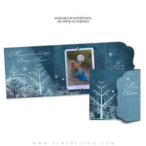 Folded Luxe Card Templates by Folded Luxe Card Set Winter