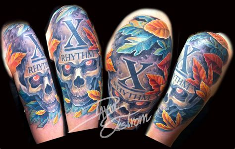 inner arm tattoos pain awesome arm skulls evil dead design tattoomagz