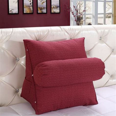 chair bed pillow adjustable sofa bed chair rest neck support back wedge cushion fippillow as ebay