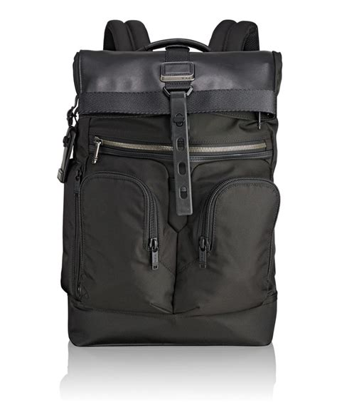 Tumi Cameron Commuter Backpack Black roll top backpack alpha bravo tumi united states
