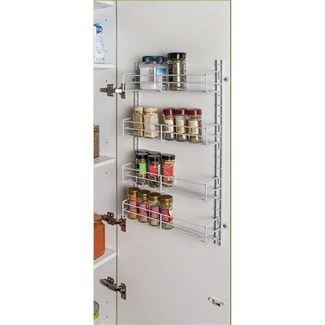 Spice Racks Australia restored 350mm white adjustable spice rack bunnings warehouse