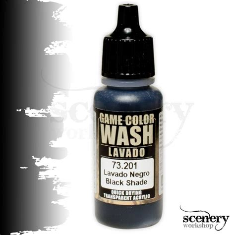 vallejo color wash vallejo color wash black shade 17ml 73201