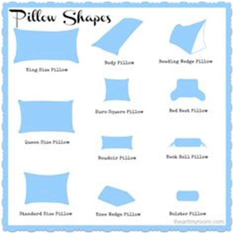 Types Of Pillows Shapes by Pillows Sizes Room Ornament