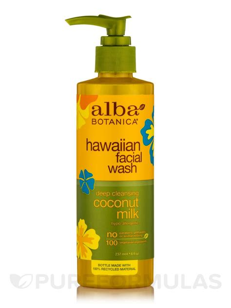 Alba Botanica Hawaiian Detox Cleanser by Hawaiian Wash Cleansing Coconut Milk