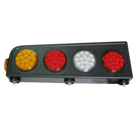 Semi Truck Tail Light Assembly Of 4 Round Red Amber