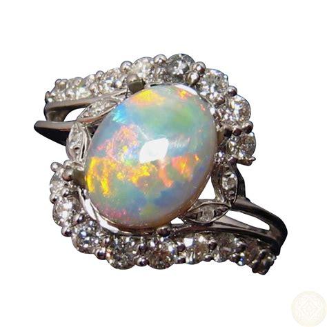 semi black opal and ring for flashopal