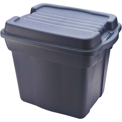rubbermaid storage containers rubbermaid 16 5 gallon 66 quart roughneck clears storage box clear gray set of 4 walmart