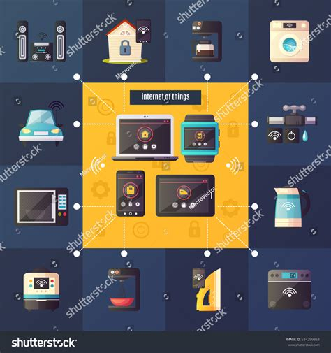 home lighting automation retrofit internet things home automation system iot stock vector