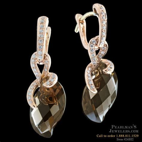 bellarri jewelry bellarri gold smokey quartz earrings