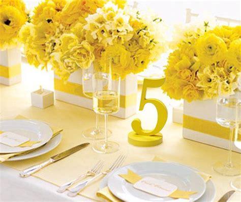 tischdeko gelb gelbe tischdeko deko mit pflanzen pinterest
