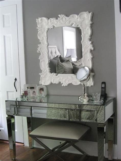 glam mirrored vanity stool glam bedroom pinterest pinterest the world s catalog of ideas