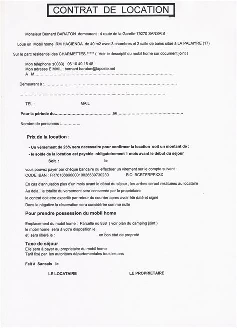 contrat location chambre meubl馥 bail de location non meuble gratuit 9 modele contrat de