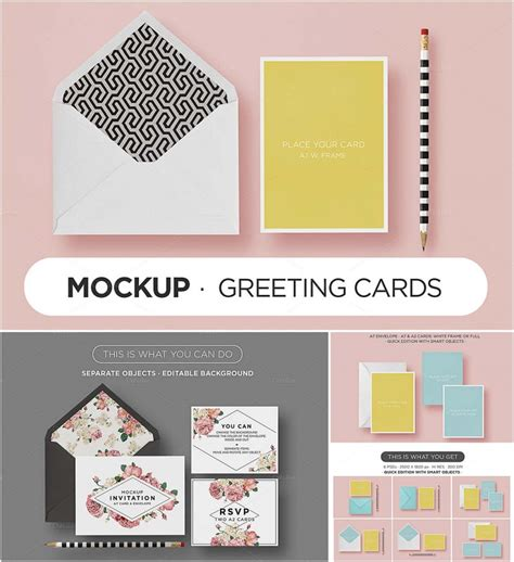 card envelope mockup set free
