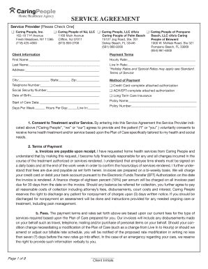 home care service agreement template home health care contract template fill