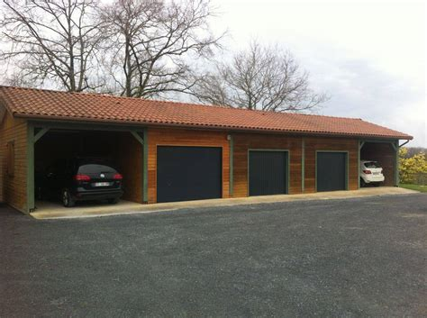 construction garage en bois construction de garage bois gers cogebois