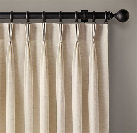 french pleat curtain custom belgian sheer linen 3 fold french pleat drapery