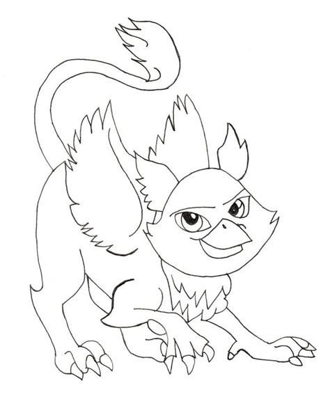monster pet rochelle goyle coloring pages monster high