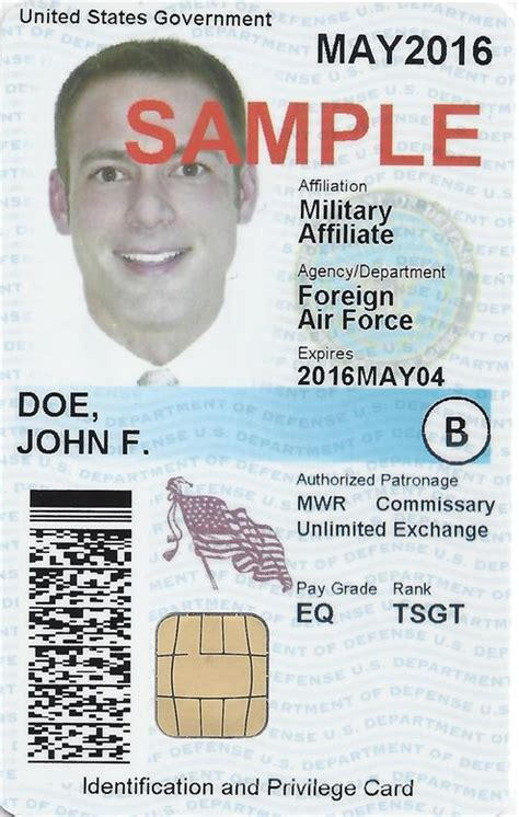 us army id card template cac change aids visually color impaired security officers