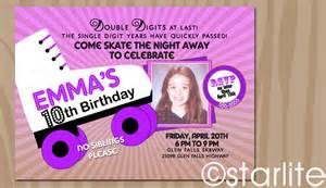 roller skating birthday invitation sk8way by starwedd