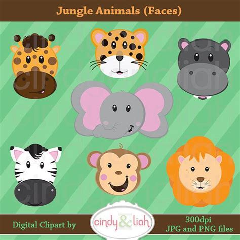 jungle clip jungle clipart faces jungle animals clipart safari