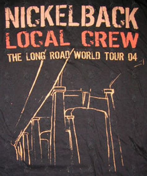 Nickelback 05 T Shirt nickelback black the road world tour 2004 crew